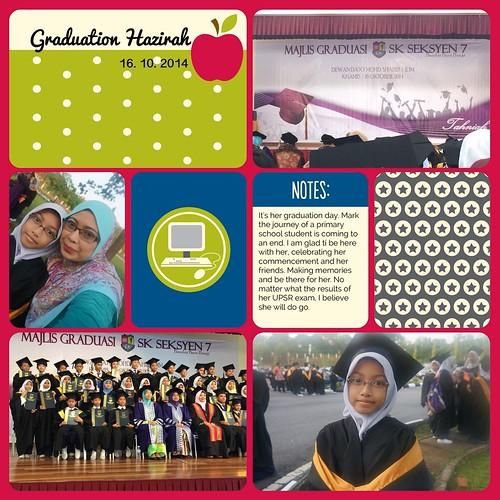 graduation : Hazirah