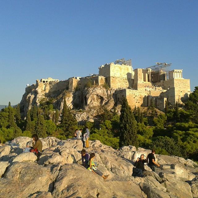 Hienot näkymät Akropolikselle