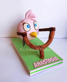 Angry Bird Stella Cake