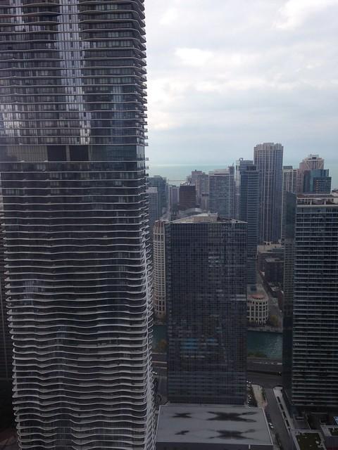 Vista del Radisson Blu desde la cocina de la oficina