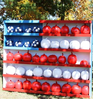 Fourth of July pumpkin display