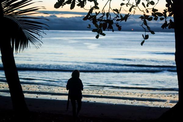 Morning at Yoga Teacher Training in Costa Rica