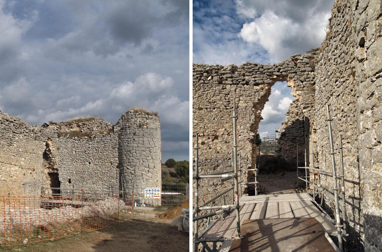 castillo ucero_soria_visita monumentos restauracion_IPCE_entrada patio armas