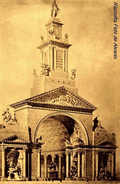 1882 Progetto, per il concorso per il monumento a V. Emanuele II,