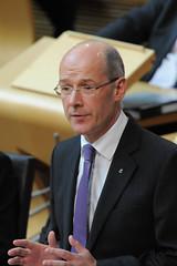 John Swinney presenting budget proposals, October 2013