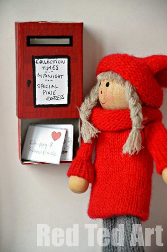 Fairy Postbox and Free Printable Envelopes (Photo from Red Ted Art)
