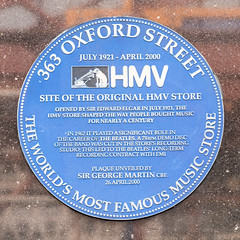 Photo of The Beatles and Edward Elgar blue plaque