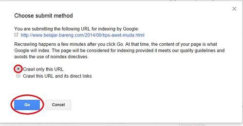 Artikel cepat diindeks dengan  fitur fetch as google3