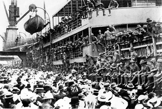 Main Body of the New Zealand Expeditionary Force (NZEF) embark at Wellington