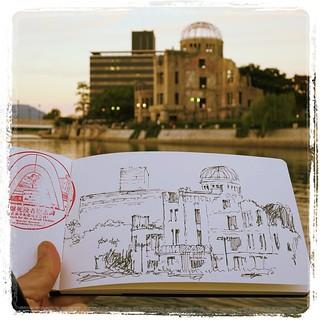 #japon #hiroshima #urbansketch #platinum #carbon #moleskine