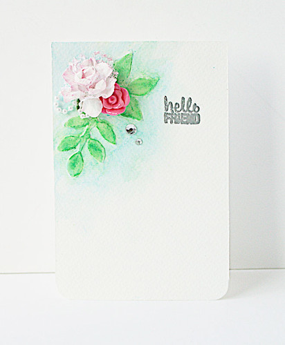 Hello-friend-mixed-media-card