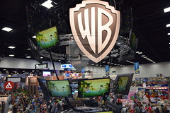 Warner Bros booth at San Diego Comic Con 2014