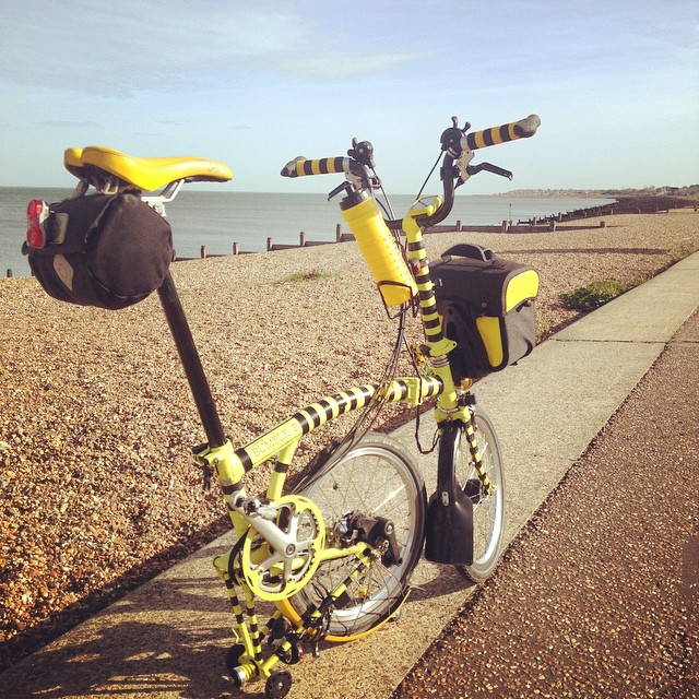 Right by the #sea. #bromptonbicycle #urban #seaside