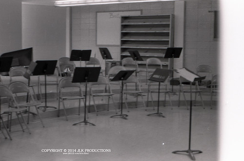 Tri-X Files 84_27.21: The Band Room on a Friday Afternoon