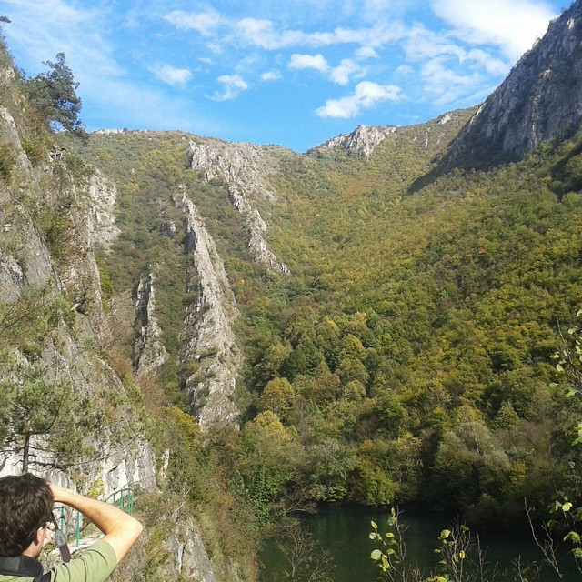 Photo stop every few meters at Matka Canyon, Skopje