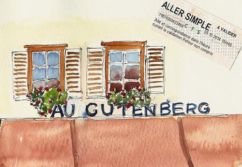 Place Gutenberg signage, Strasbourg, France