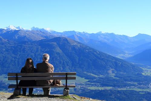 panorama landscape austria tirol view cable railways alpi veduta innsbruck nordkette vetta hafelekar