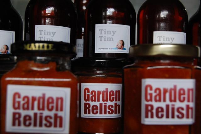 Labelled jars and bottles