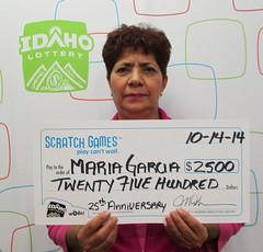 Maria Garcia - $2,500 25th Anniversary