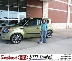 #HappyAnniversary to Wesley Hartley on your 2013 #Kia #Soul from Teresa Toombs at Southwest KIA Rockwall!