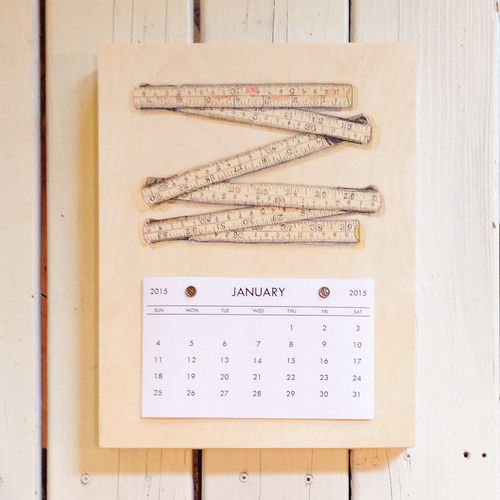 Merchant and Mills Folding Ruler- 2015 Calendar