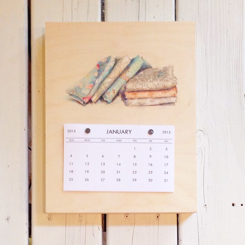 Fabric Stacks- 2015 Calendar