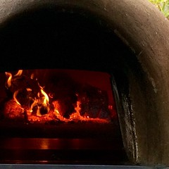 The #woodfired #oven where my #pizza came from. #KnockoutPizza at #CorkJazz