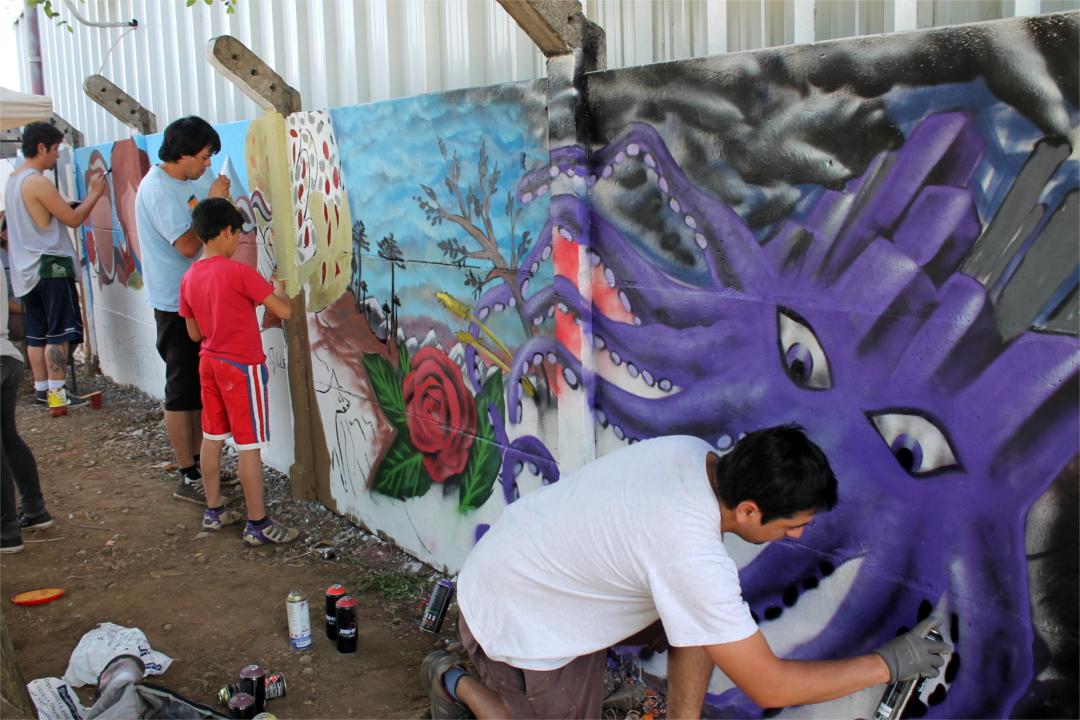 Jornada muralista y artística por un Bulnes Sin Termoeléctricas