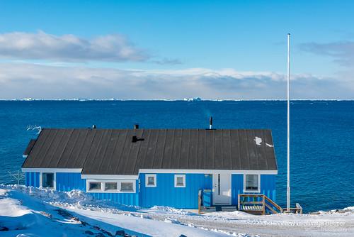 greenland iceberg maison arctique océan ilulissat groenland groënland kitaa architectureetbatiments constructionsprivées