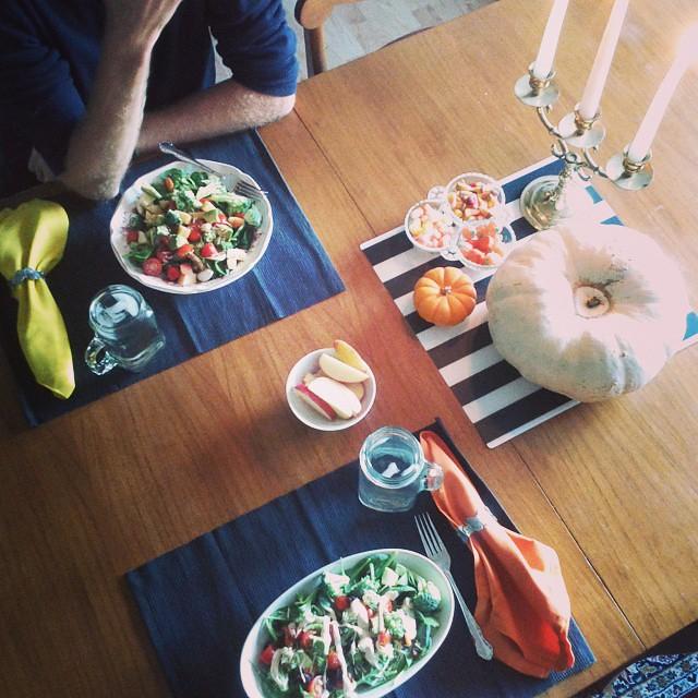 Festive table #dinner