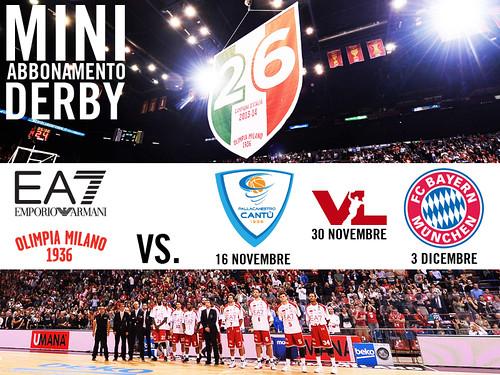 Derby Cantù+Bayern: il mini abbonamento