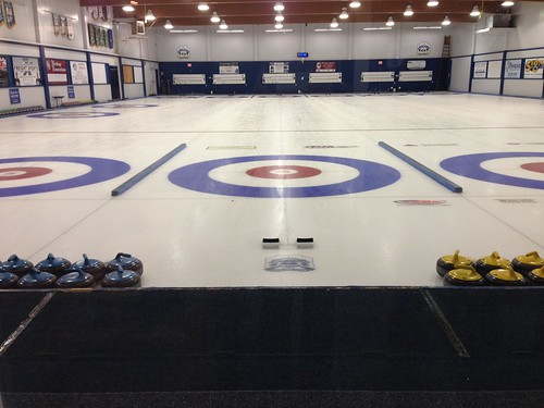 Ice at the Royal City Curling Club