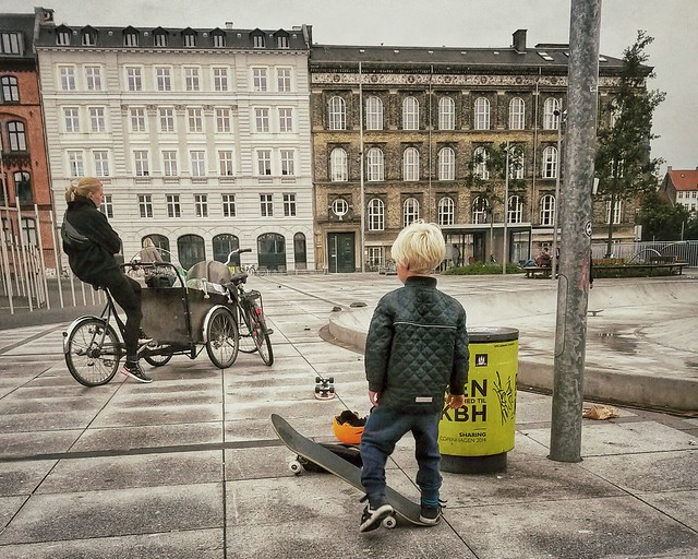 A skater kid in Copenhagen