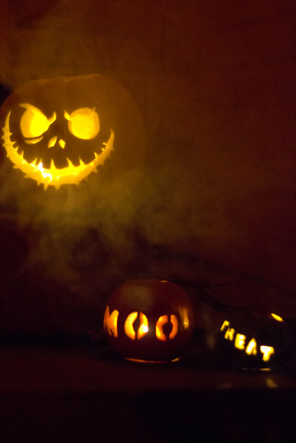 Mine and Pug's Pumpkins