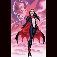 Lilith, Daughter of Dracula, by Bruce Timm. #Comics #Horror #Halloween