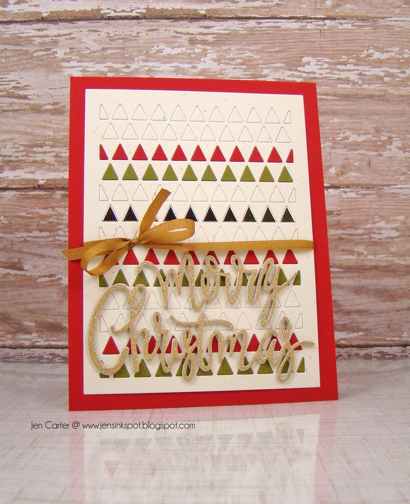 Jen Triangle Card Merry Christmas WM