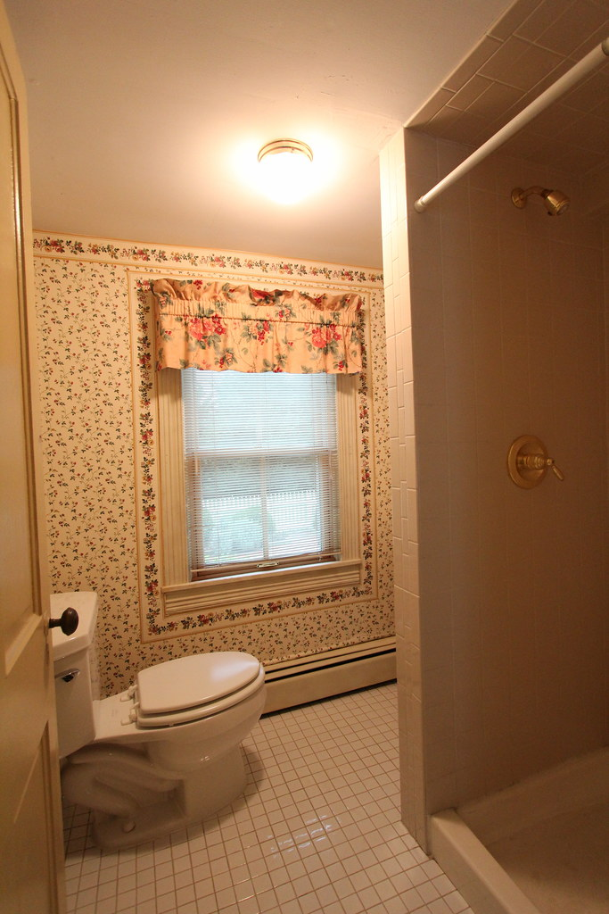 This Bathroom Accessed Through The Office Space Is The One Bathroom On The First Floor While Its A Full Bathroom Complete With A Very Small Stand Up