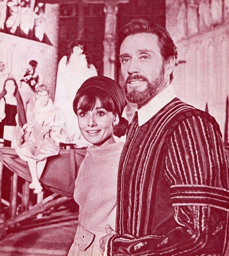 Audrey Hepburn y Mel Ferrer en Toledo durante el rodaje de El Greco en septiembre de 1964