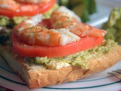 sandwich(0.0), vegetable(0.0), veggie burger(0.0), produce(0.0), smoked salmon(0.0), meal(1.0), breakfast(1.0), fish(1.0), seafood(1.0), bruschetta(1.0), food(1.0), dish(1.0), cuisine(1.0),