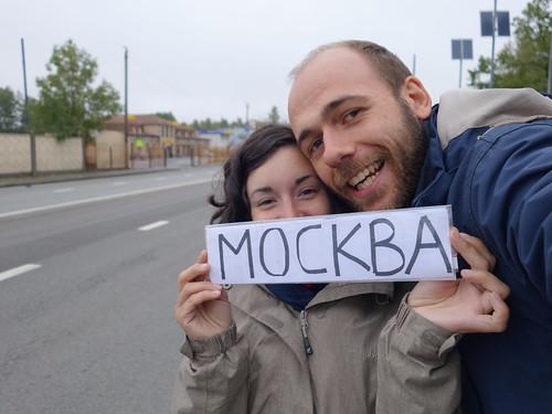 On l'a fait! Lyon Moscou en stop :D