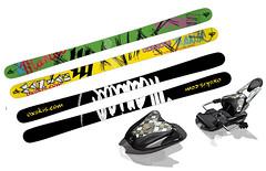 Prodám parkové lyže OX Maniac Sketch + vázání Mark - titulní fotka