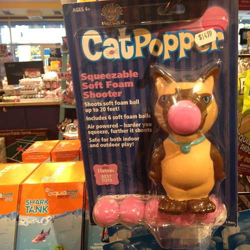 Dear Santa, I want this cat popper. (Find it at Tiggy's!)