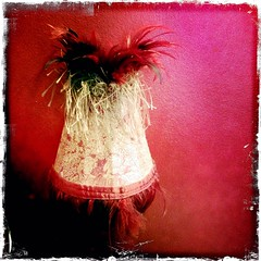 lampshade in red