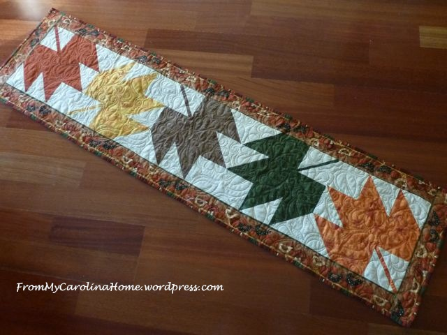 Maple Leaf Table Runner finished 2