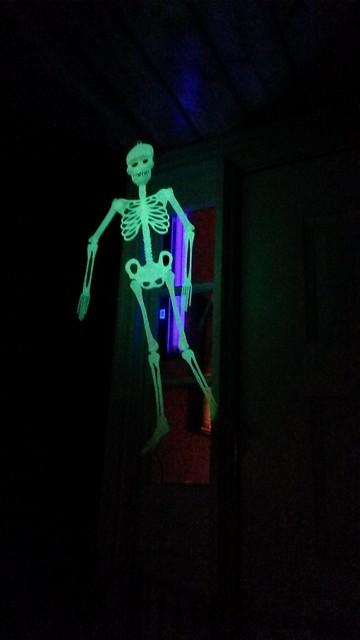 Spoopy porch skeleton