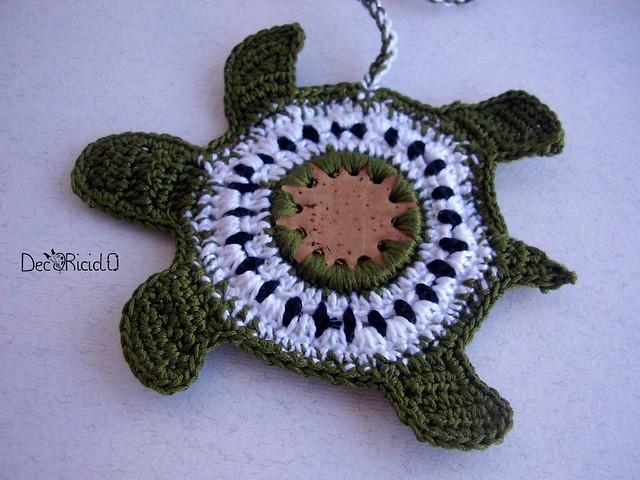 segnalibro tartaruga, sughero e cotone 2