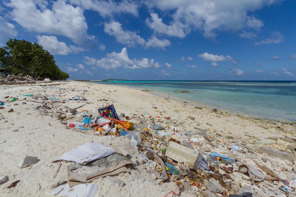 Local beach in the Maldives