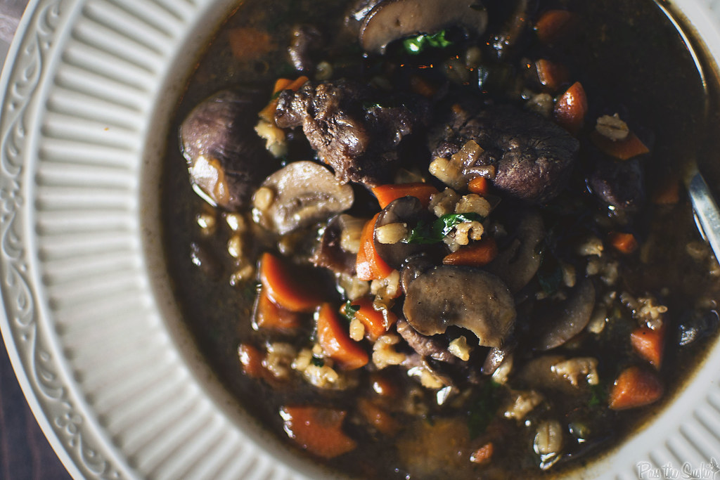 Beef and Barley Soup || GirlCarnivore.com