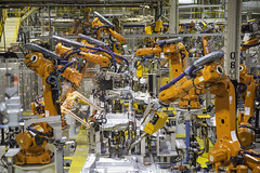 mass production, machine, robot, industry, factory,