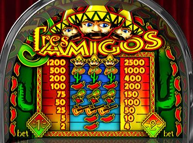 free Tres Amigos slot payout